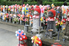Guardian Deities of Children at Zojoji Temple Give You a Refreshing View with Lots of Pinwheel!