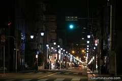 Nightscape of Quiet Residential Area of Kamata