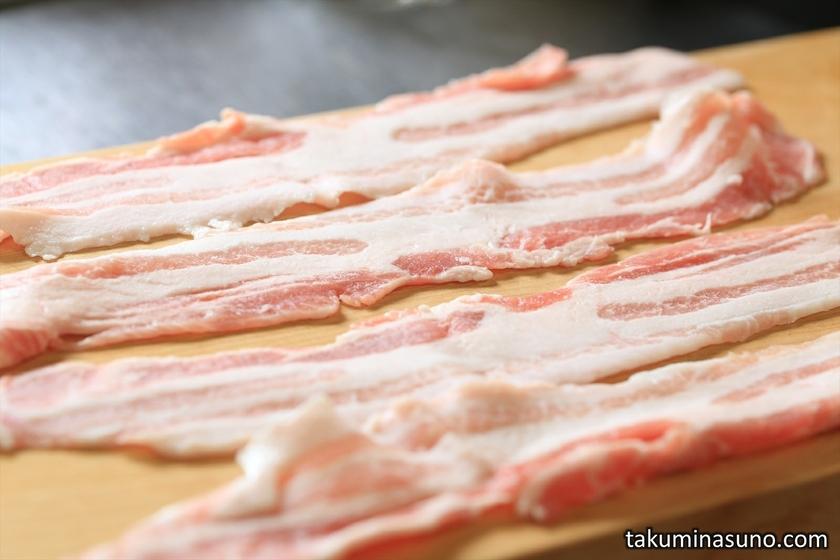 Perilla Pork Back Ribs on Chopping Board