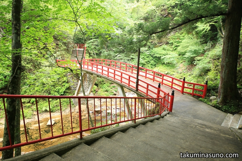 Red Bridge at Yamamoto Fudouson Temple