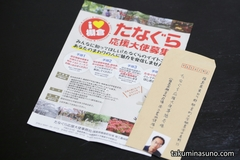 Official Program of Tanagura Town - I will apply for Tanagura Supporter's Ambassador!