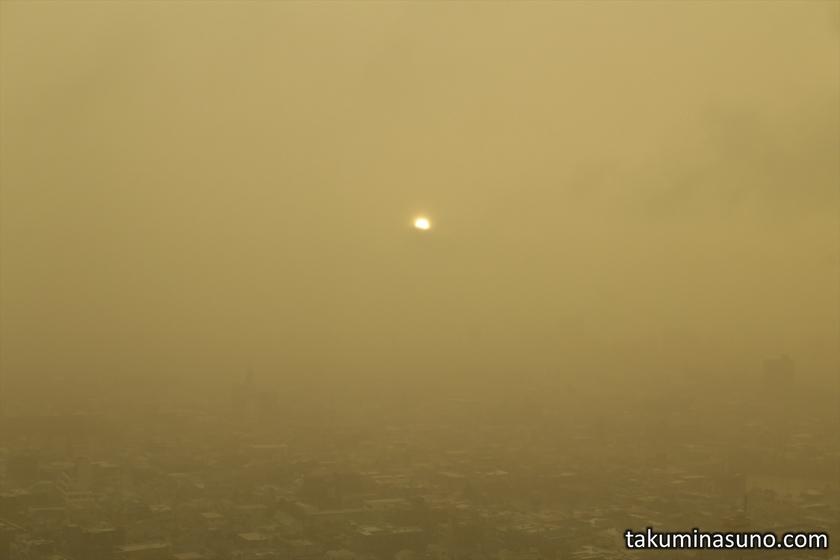 Sunset from Shinjuku during Big Typhoon