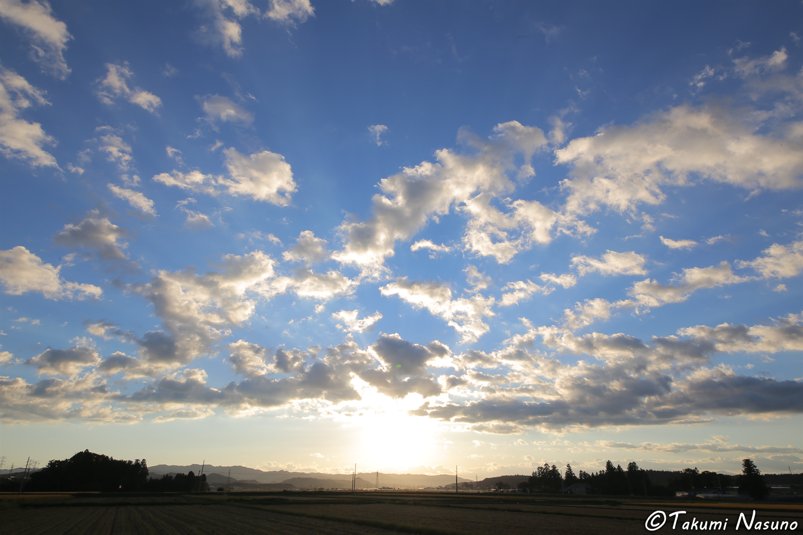 Sky before Sunset at Tanagura Town