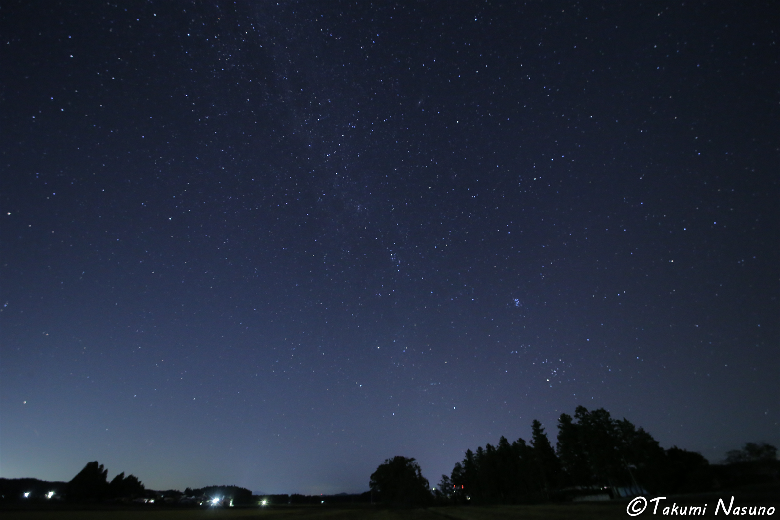Starscape from Yashirogawa District of Tanagura Town