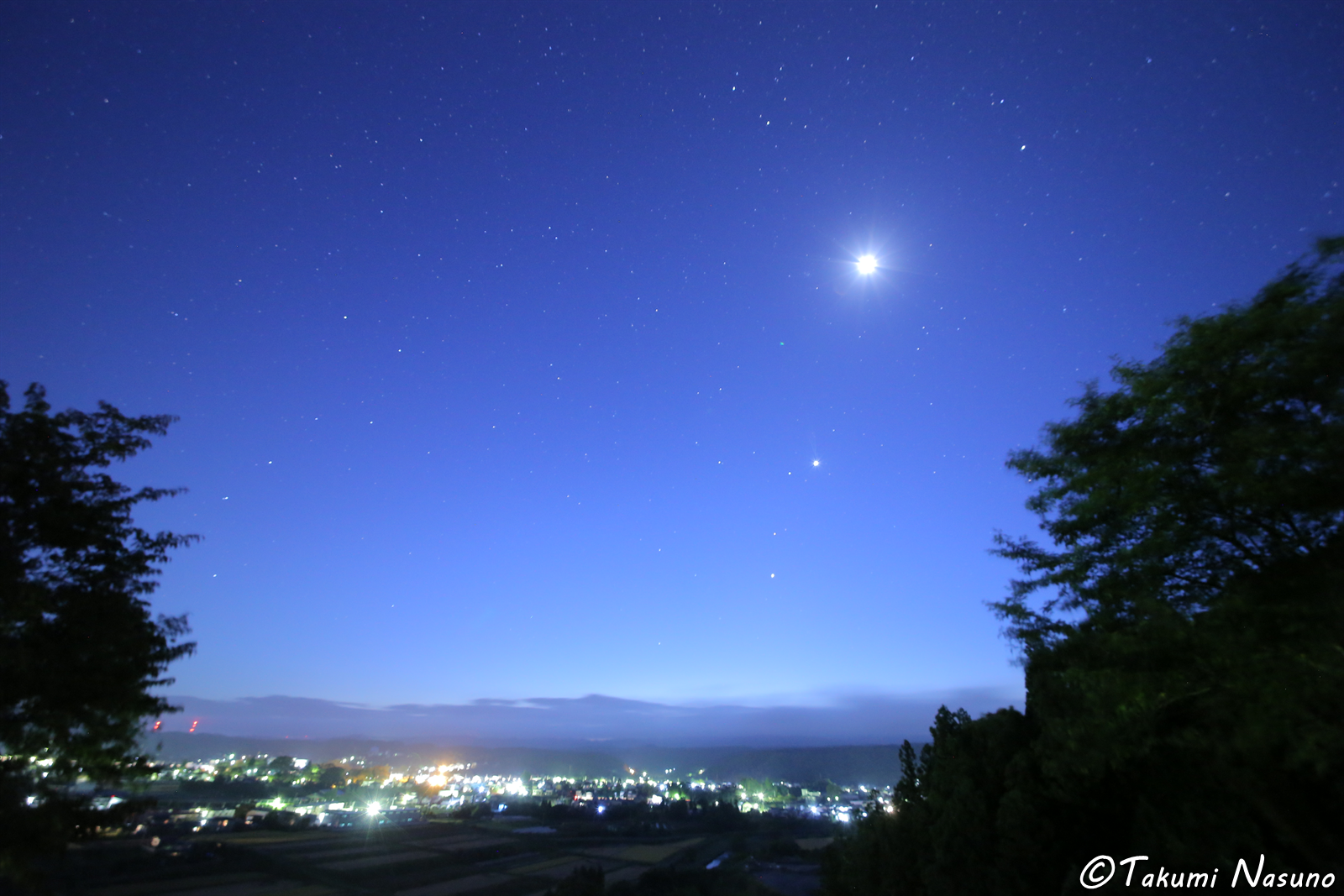 Starscape over Tanagura Town