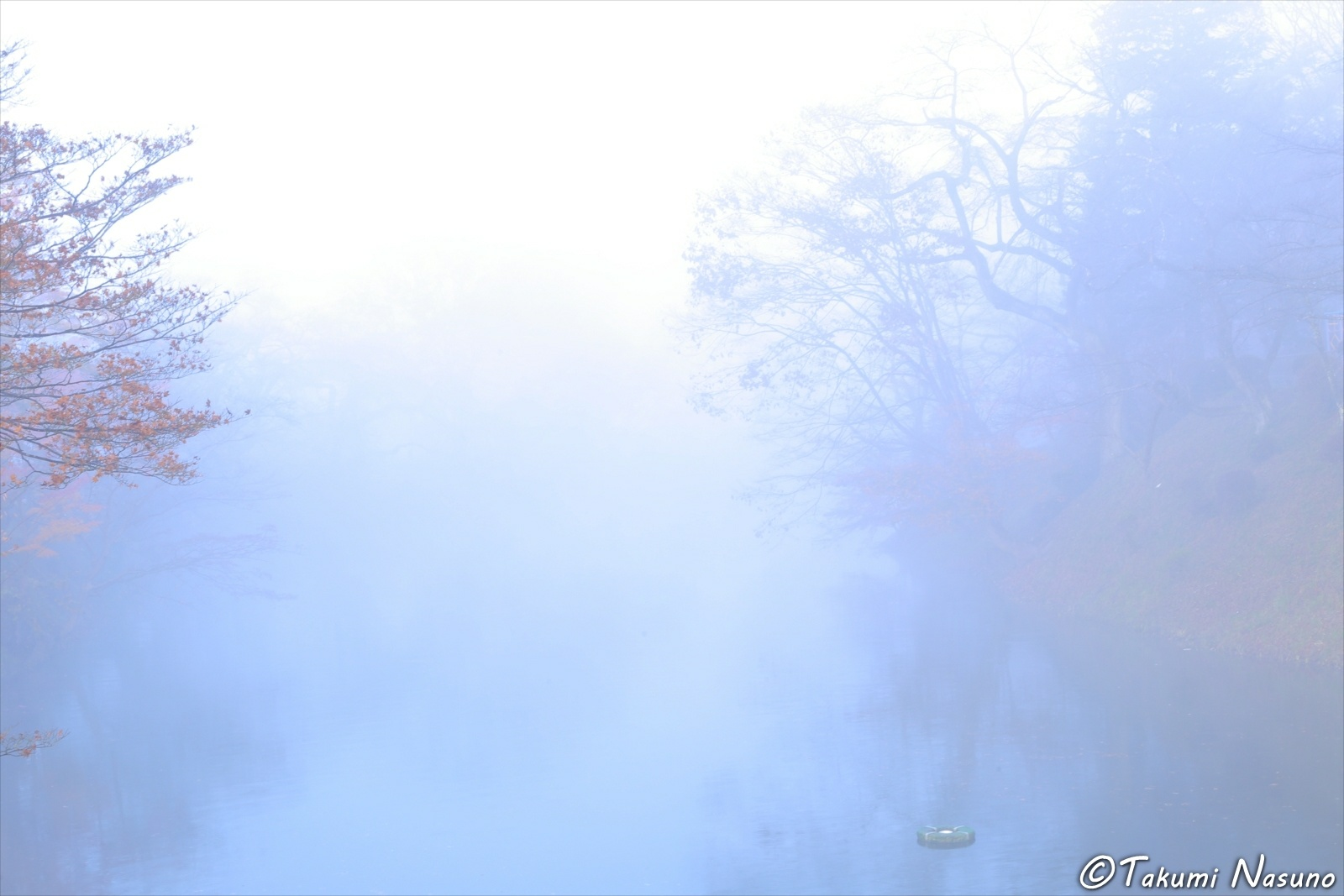 Morning Mist around Site of Tanagura Castle