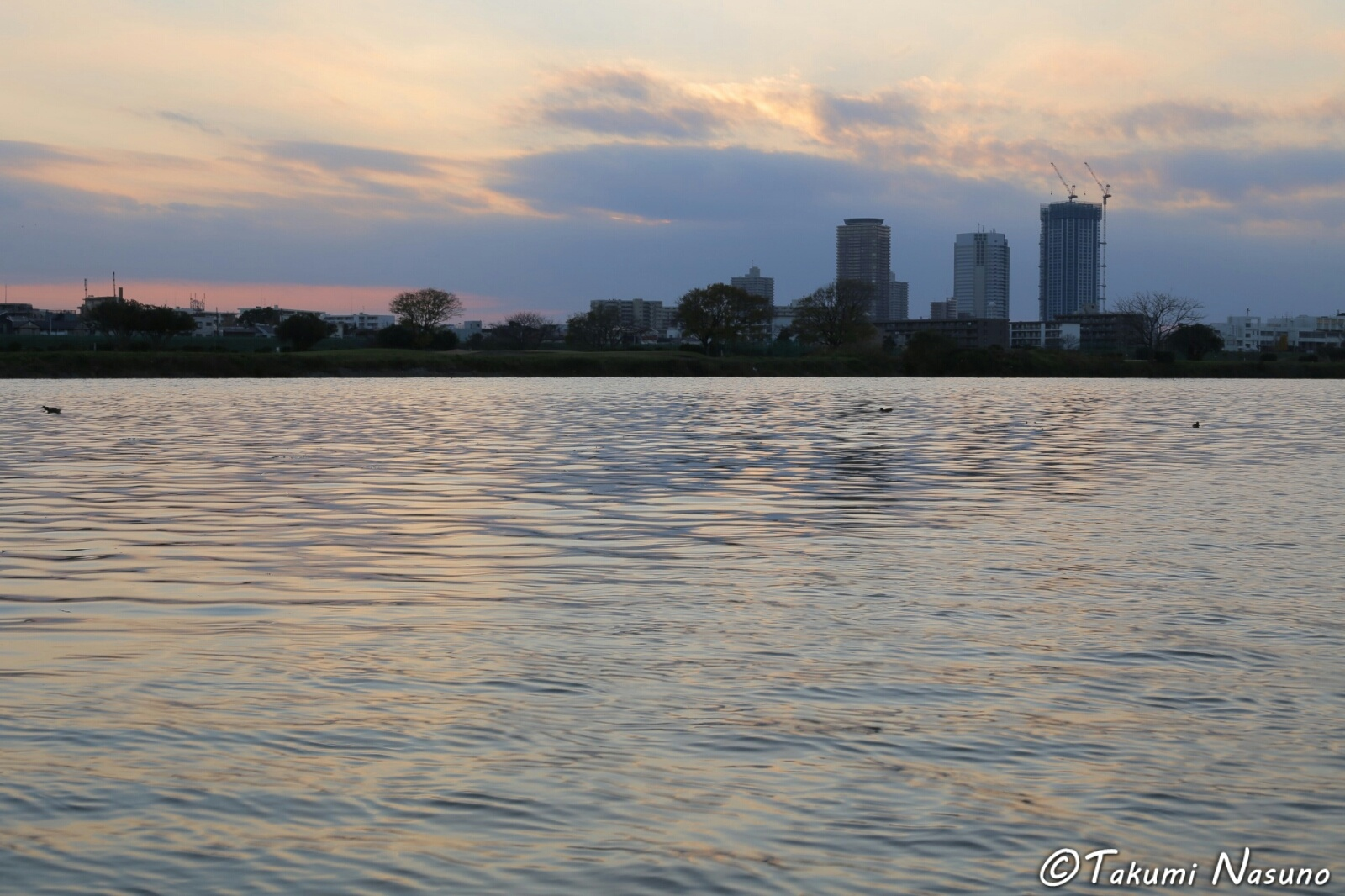 Sunset over Tama River