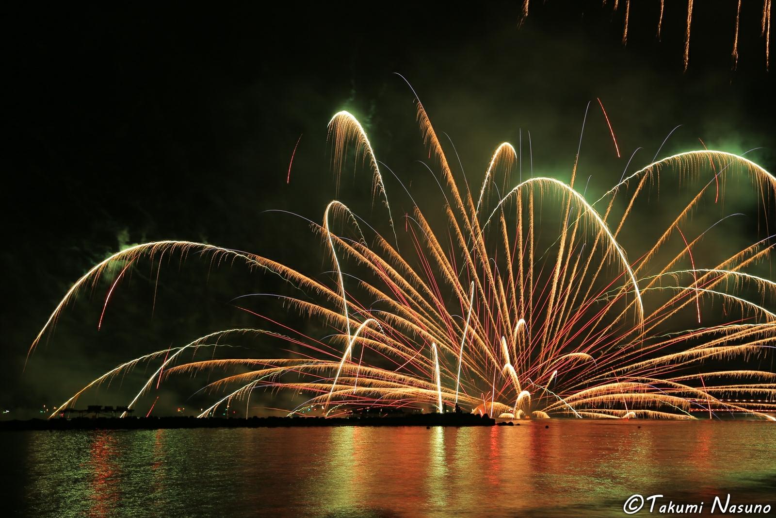 Marine self-explosion from Anjinsai Fireworks at Ito