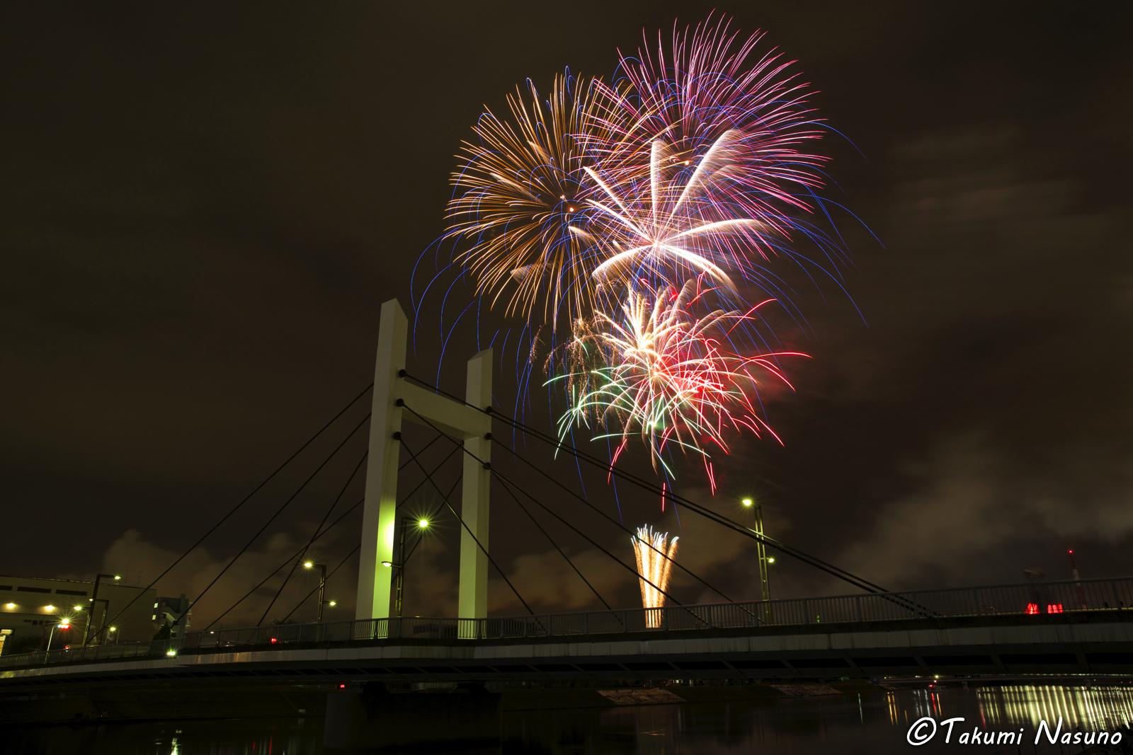 Tsurumi River Fireworks 1