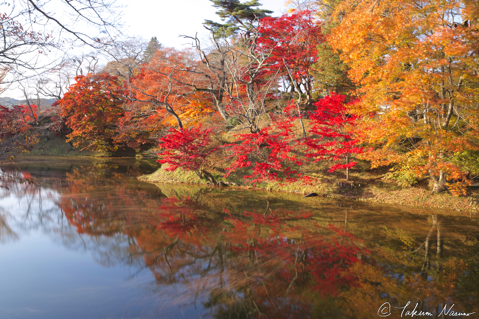 autumn-reflection-of-site-of-tanagura-castle