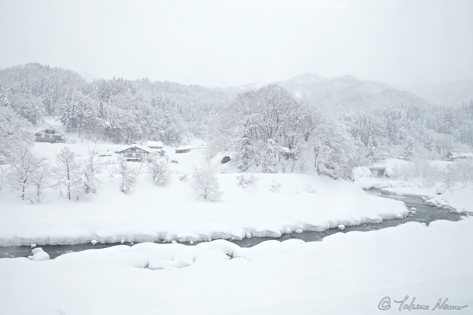 Otari Village - Snowy Winding Hime River