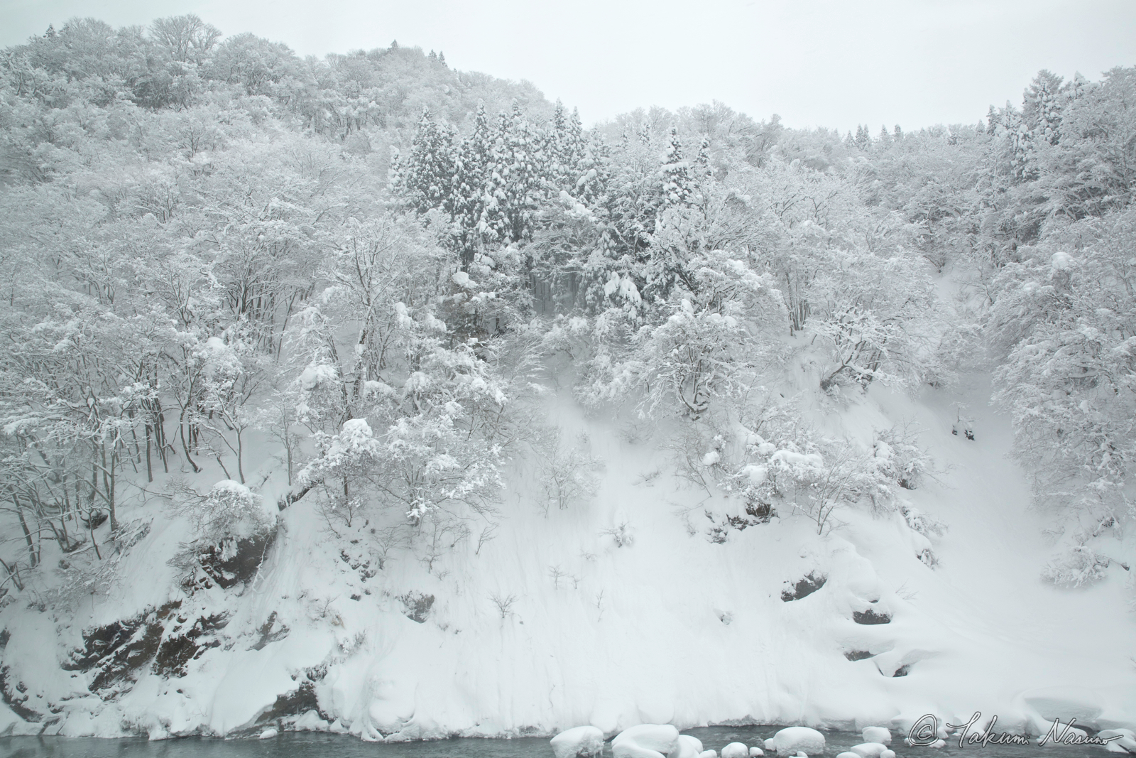 Snowy Wall of Hime River