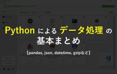 Pythonによるデータ処理の基本まとめ【pandas, json, datetime, gzipなど】
